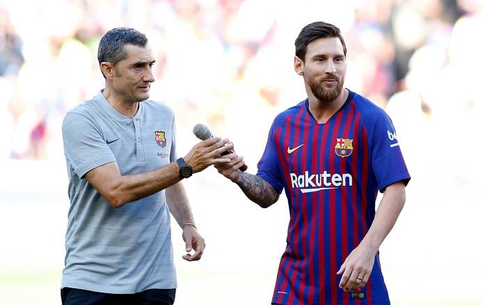 Valverde en Messi.