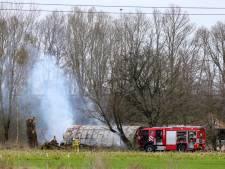 Brandje in schuur bij Klarenbeek zorgt voor veel rook langs A1