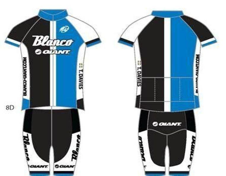 Het nieuwe tenue van de ploeg van de Rabobank. Beeld