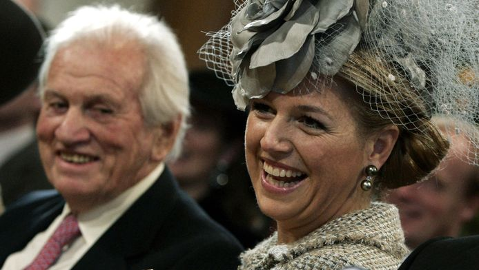 Máxima met haar vader in 2005.