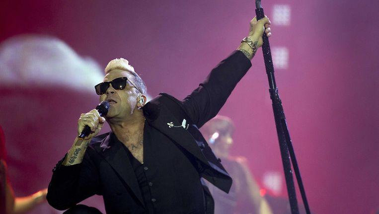 Robbie Williams op Pinkpop. Beeld epa