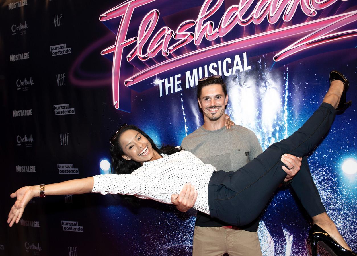 Premiere - Flashdance   Aagje Vanwalleghem met haar partner Dennis