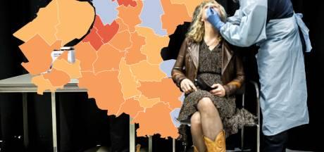 KAART | Halvering van het aantal nieuwe besmettingen in IJsselland, geen positieve tests op Urk