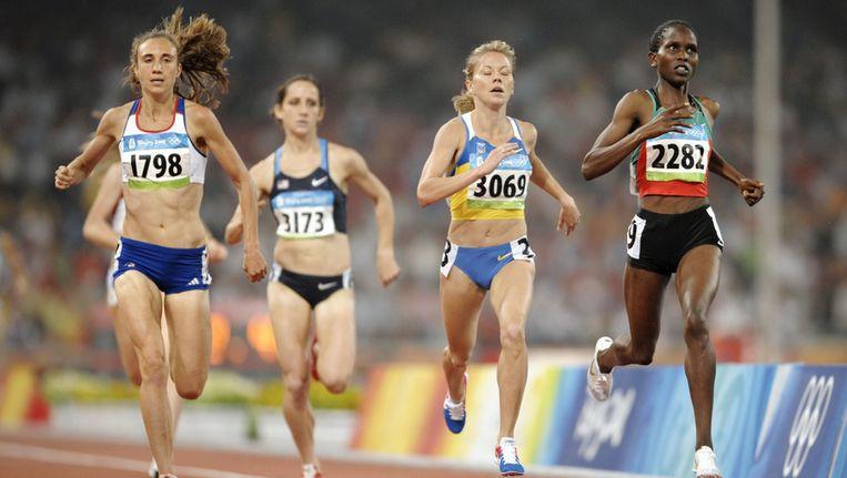 Natalja Tobias (tweede van rechts). Beeld afp