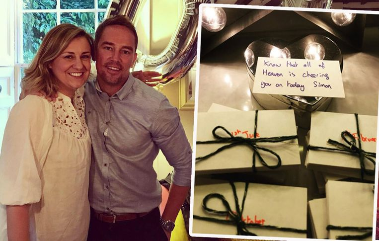 Simon en zijn vrouw Gemma, toen ze samen haar 40ste verjaardag vierden.