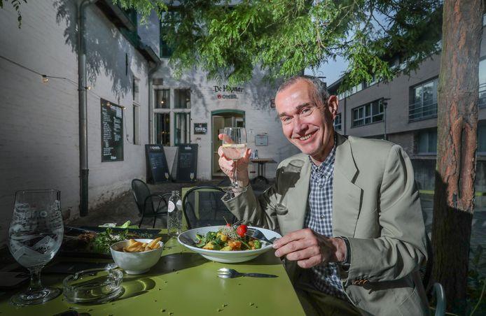 Minister van Volksgezondheid Frank Vandenbroucke (Vooruit) bij 'De Hopnar' in Tervuren.