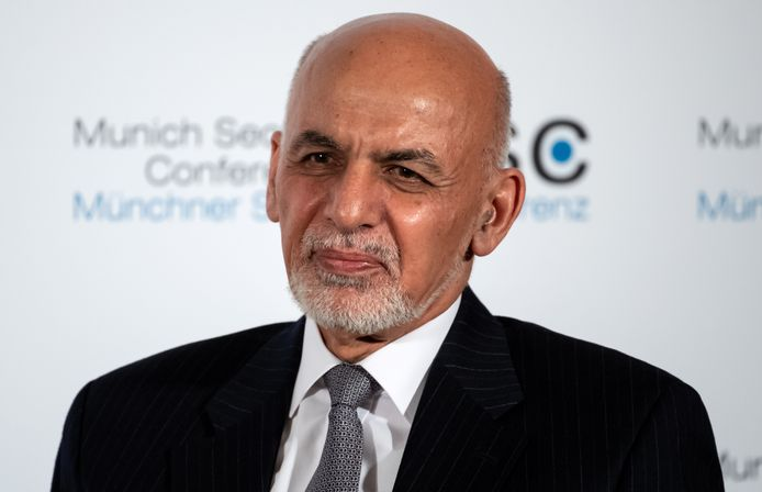 De Afghaanse ex-president Ashraf Ghani.