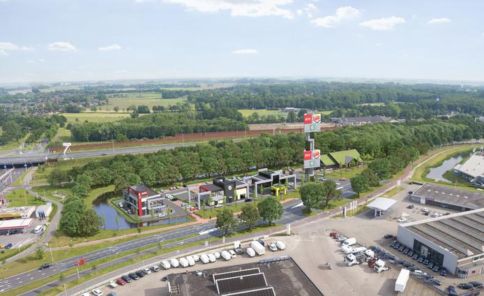 Impressie van het foodcourt in Zwolle.