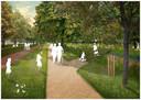 Plantsoen-Oost, dat zou kunnen veranderen in een parkachtige omgeving.