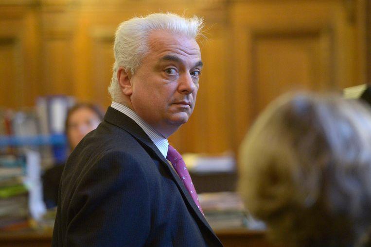 Prins Henri de Croÿ in het Brusselse hof van beroep, oktober 2013. Beeld Photo News