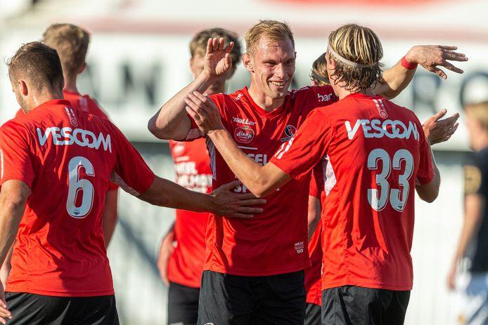 Jellert van Landschoot was met een assist en een doelpunt dé blikvanger tegen KV Mechelen onder 21.