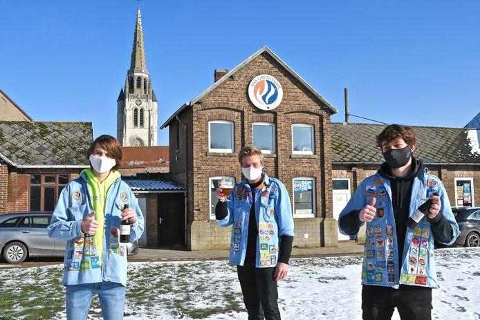 We bemerken op de jeugdsite d'Arke vlnr Aico Van de Moortele, Vic Vermeersch en Briek Verhaeghe