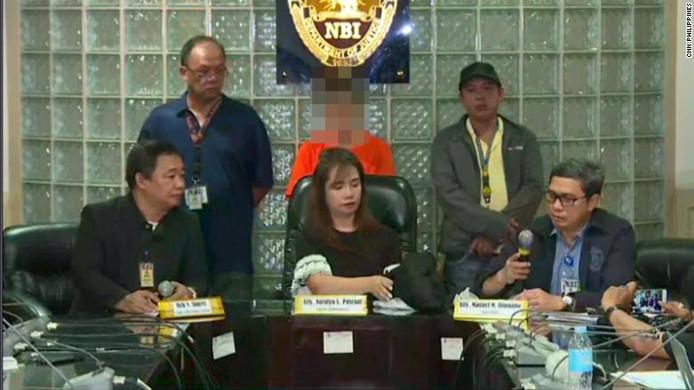 Persconferentie naar aanleiding van de arrestatie van de vrouw.