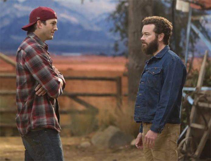 Ashton Kutcher en Danny Masterson in de Netflix-reeks 'The Ranch'.
