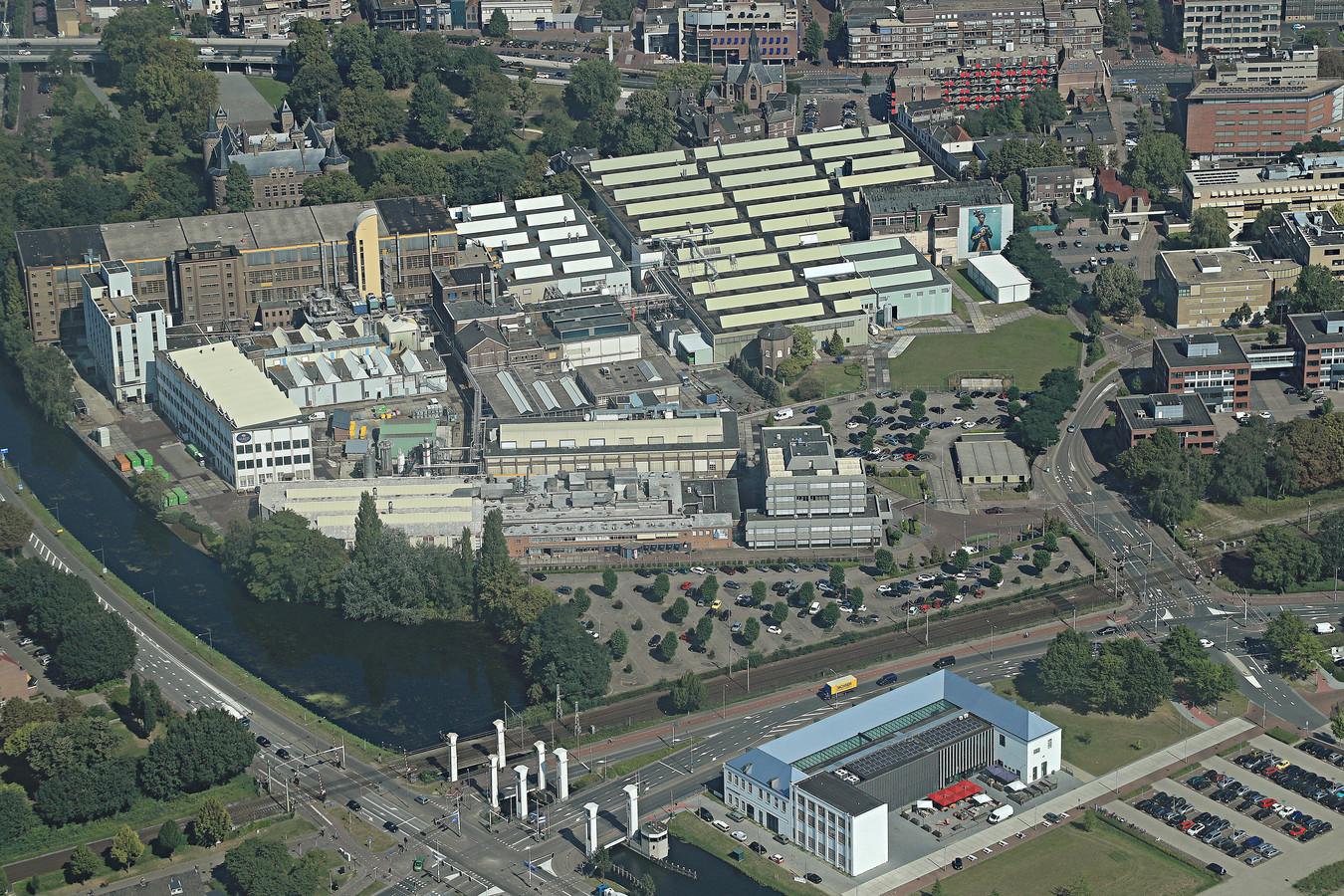 Textielfabriek Vlisco bestrijkt in het centrum van Helmond een serieuze plak grond.