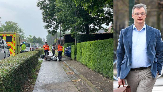 Het ongeval gebeurde aan de woning van Joachim Coens langs de Bruggesteenweg in Sijsele bij Damme.