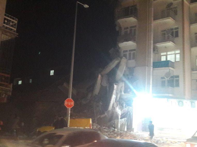 Krachtige aardbeving in Zuidoost-Turkije.