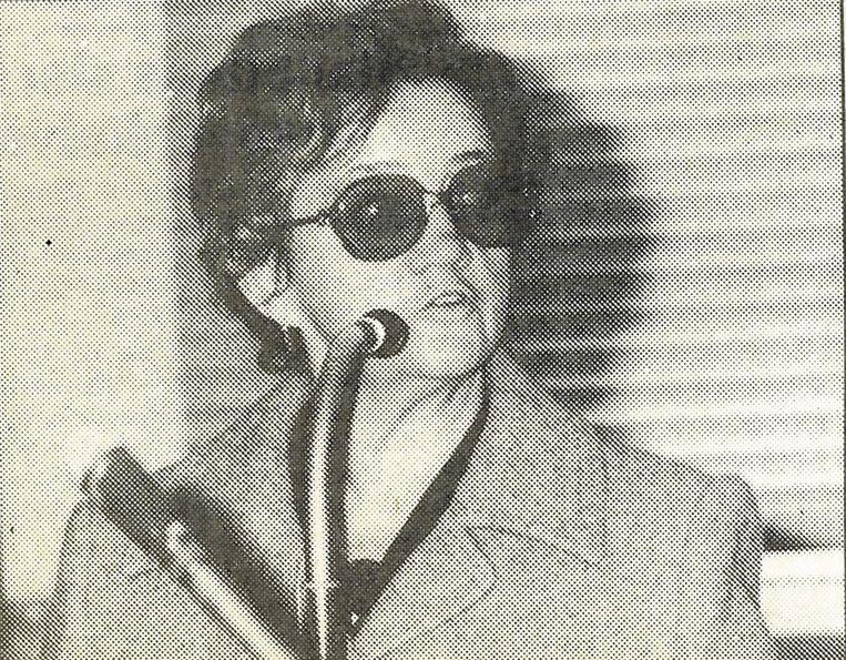 Georgette De Roo tijdens haar proces in 1986.