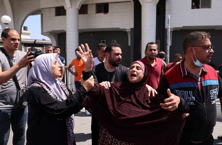 Het huis van Yehya al-Sinwar was een van de doelwitten in Gaza. Beeld REUTERS
