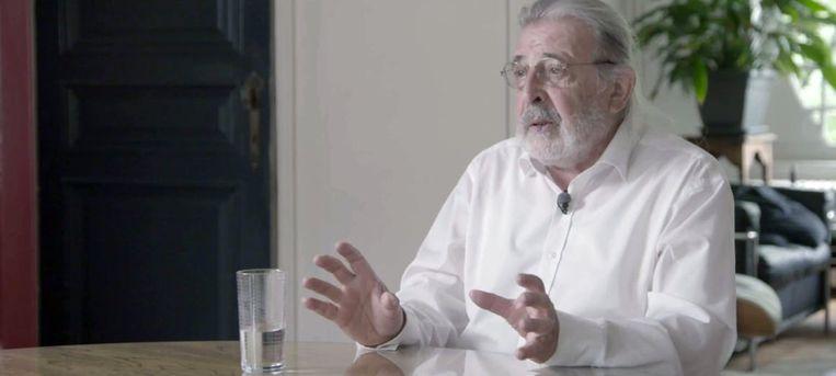Architect Luc Deleu (75) in de documentaire 'Plannen voor de toekomst' van Bertrand Lafontaine en Steffen Verpoorten. Beeld /