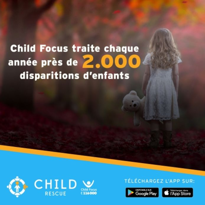 Child Focus invite le grand public à télécharger gratuitement l'application ChildRescue