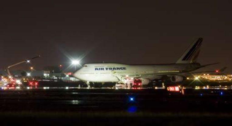 Vliegtuig Van Air France Van De Baan In Montreal Buitenland
