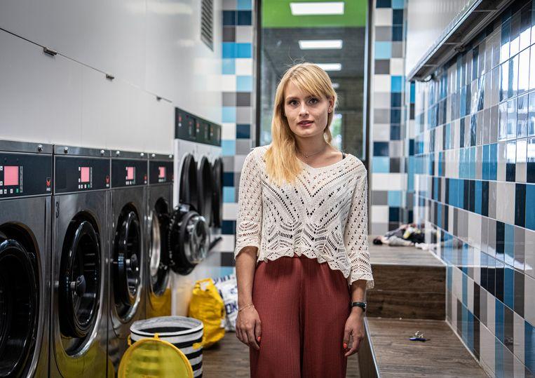 Student Esmeralda Wijnsma (23) huurt een kamer in Wageningen voor 512 euro per maand. Beeld Koen Verheijden