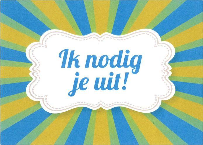 Ansichtkaart van Diaconaal Platform Doetinchem waarmee mensen elkaar kunnen uitnodigen samen iets leuks te gaan doen.
