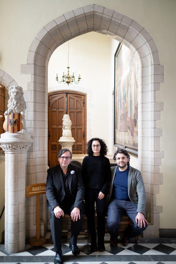 MECHELEN Lunalia 2019: directeur Jelle Dierickx, regisseur Nazanin Fakoor en voice in residence Reinoud Van Mechelen
