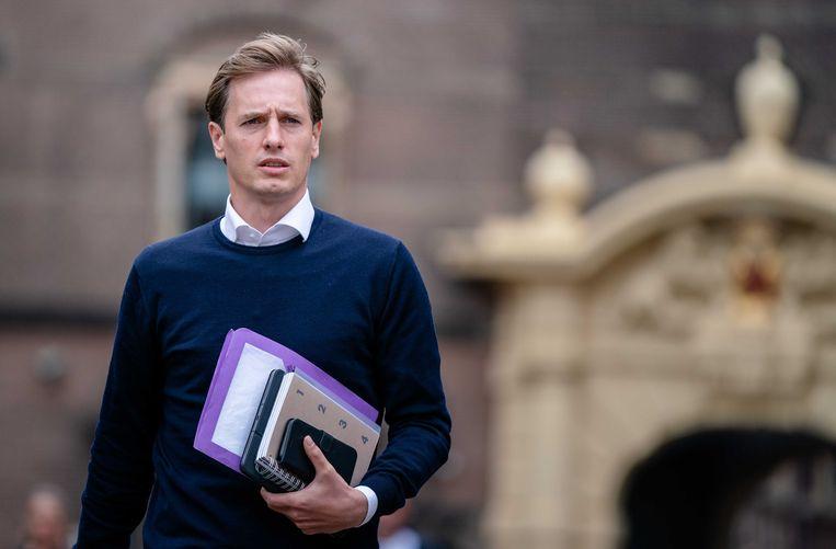 Fractieleider Laurens Dassen vorige week op weg naar een debat over de situatie in Afghanistan.  Beeld ANP