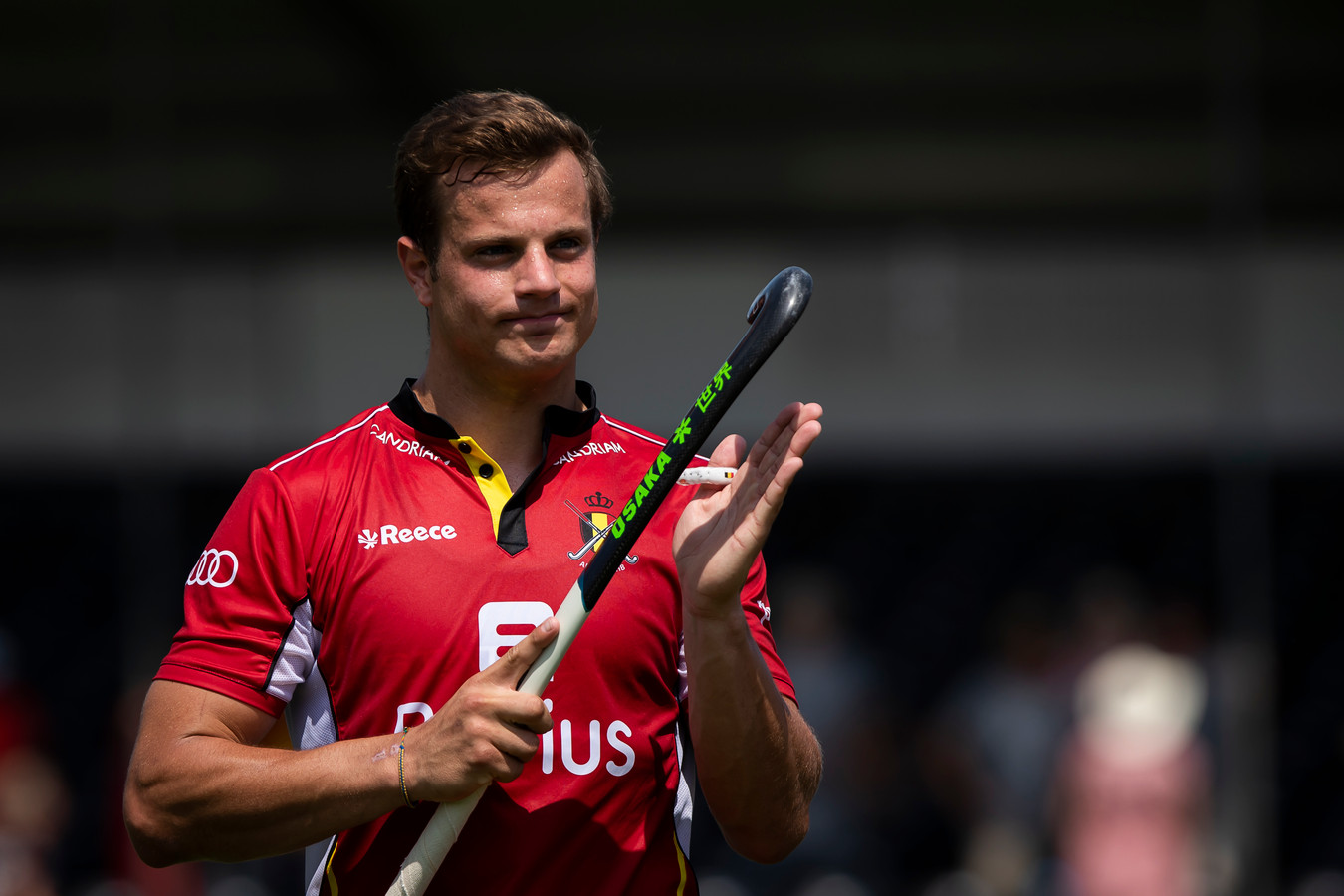 Belgium's Maxime Plennevaux pictured after a field hockey game between Belgium's national team Red Lions and Argentina, Sunday 23 June 2019 in Wilrijk, Antwerp, game 14/14 of the men's FIH Pro League competition. BELGA PHOTO KRISTOF VAN ACCOM