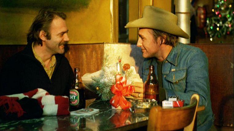 Bruno Ganz (links) en Dennis Hopper in Der amerikanische Freund (Wim Wenders, 1977). Beeld