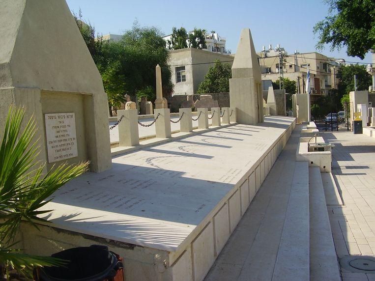 Gedenkteken voor de Joden die stierven tijdens het geweld van mei 1921 in Tel Aviv. Beeld RV/Avishai Teicher