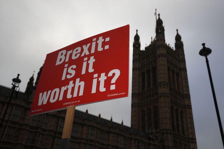 De Brexit: een zware scheidingsprocedure. Beeld AFP