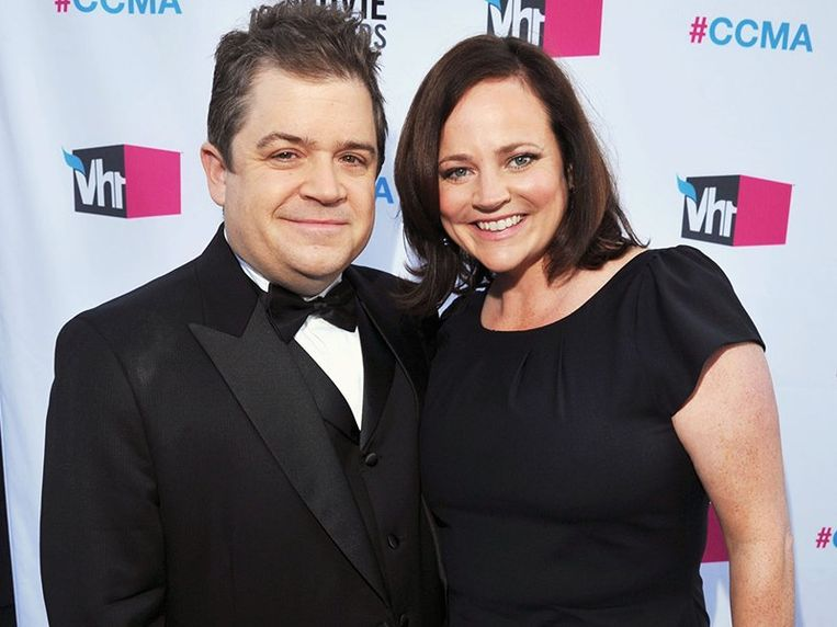 Michelle McNamara en haar man Patton Oswalt.