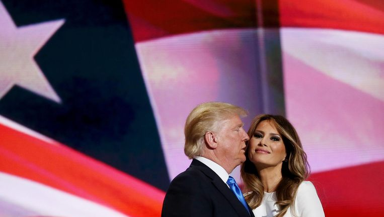Donald en Melania Trump. Beeld afp