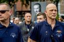 Dutchbat-veteranen bij de nationale herdenking Srebrenica in Den Haag.