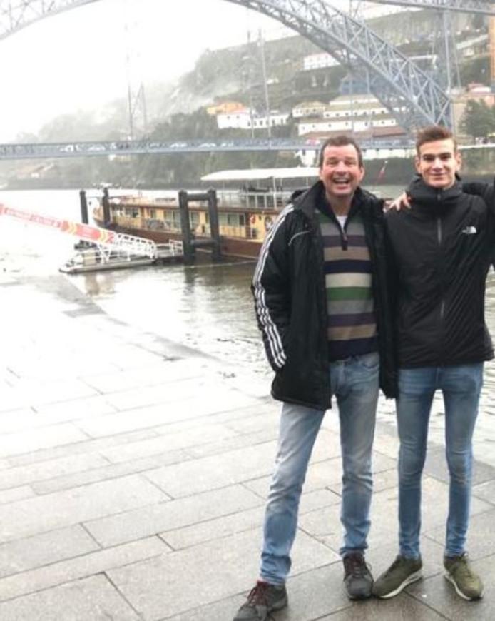 Fred en Tim in Porto.