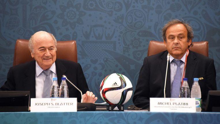 Sepp Blatter en Michel Platini Beeld EPA