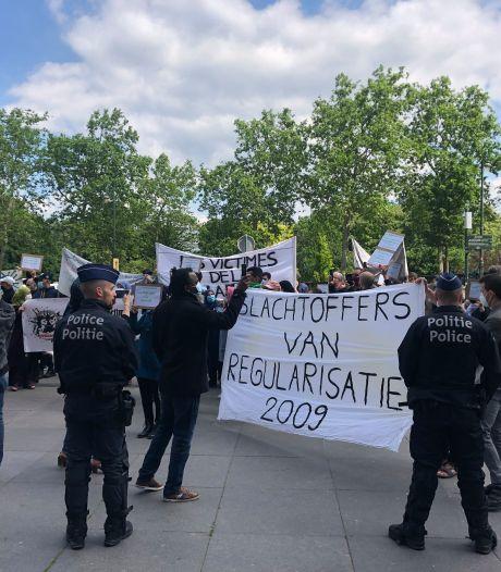 Manifestation de sans-papiers à Bruxelles pour appeler à une régularisation