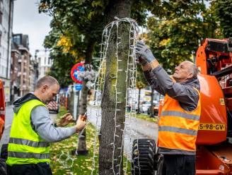Eerste kerstlichtjes fleuren Groene Boulevard in Hasselt op