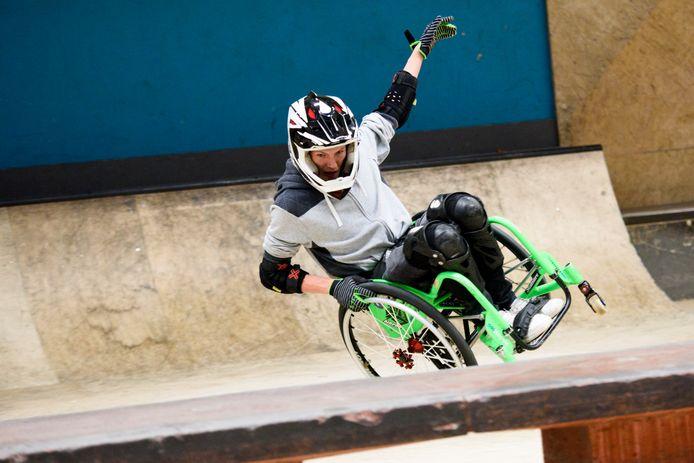 Wheelchair skaten bij Area 51