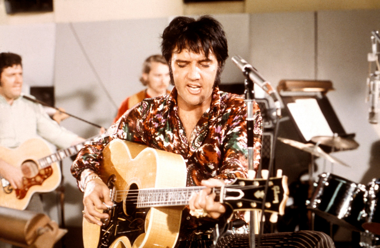 Elvis Presley in de film 'That's The Way It Is'. Beeld Redferns