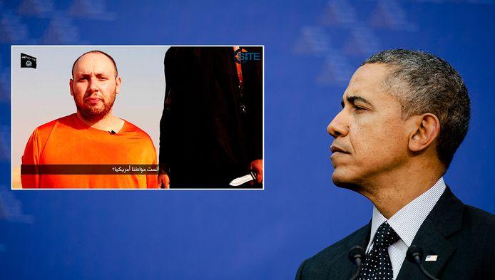 President Obama. Inzet: Steven Joel Sotloff