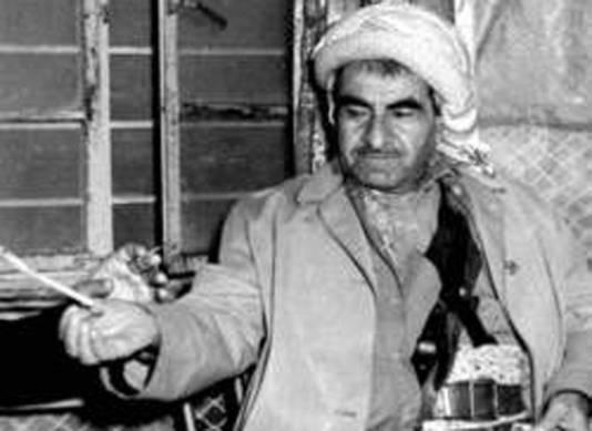 Mustafa Barzani, de oprichter van het peshmerga-leger.