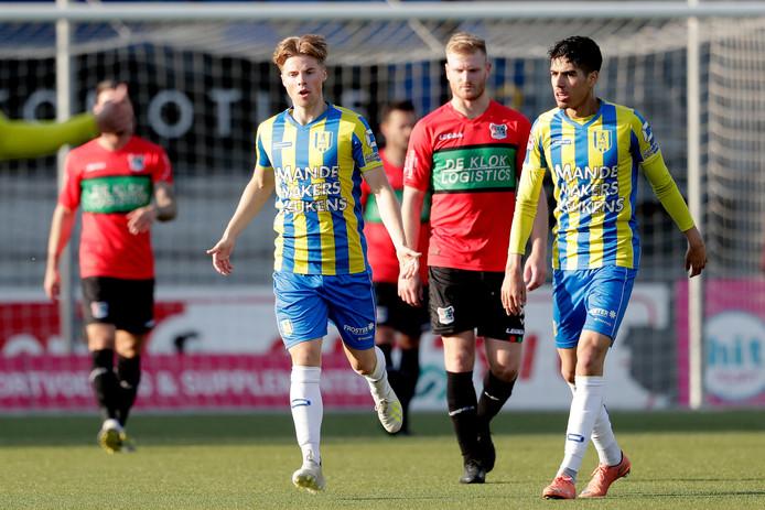 Mart Dijkstra op het veld namens NEC gisteravond in Waalwijk.