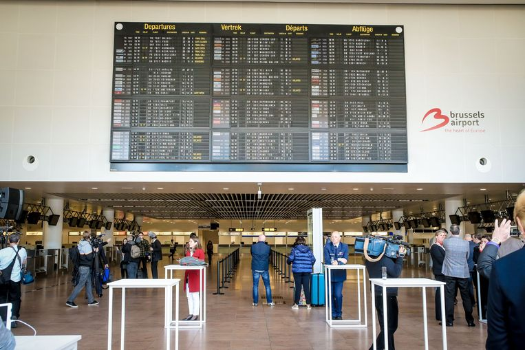 Brussels Airport. Beeld Photo News