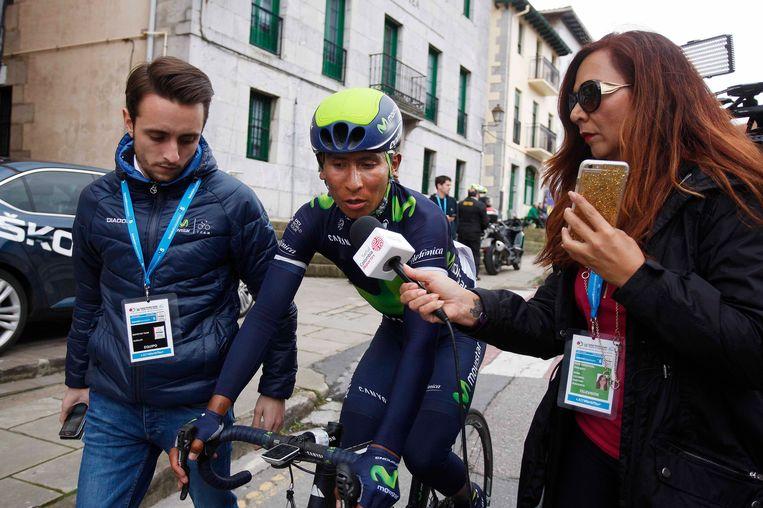 Nairo Quintana werd 'pas' achtste en kijkt al tegen een achterstand van 15