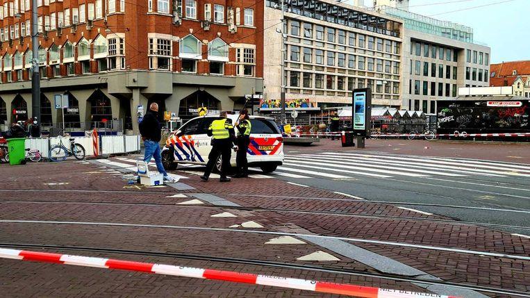 Het Muntplein is afgezet door de politie. Beeld