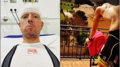 """Frederik Van Lierde zit twee dagen na zoveelste zware val op zijn hoofd alweer op de fiets: """"Ik ben een beetje gescalpeerd"""""""